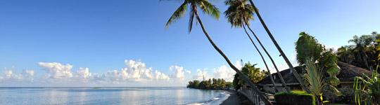 Black sand beach, Pirae, Tahiti island, French Polynesia